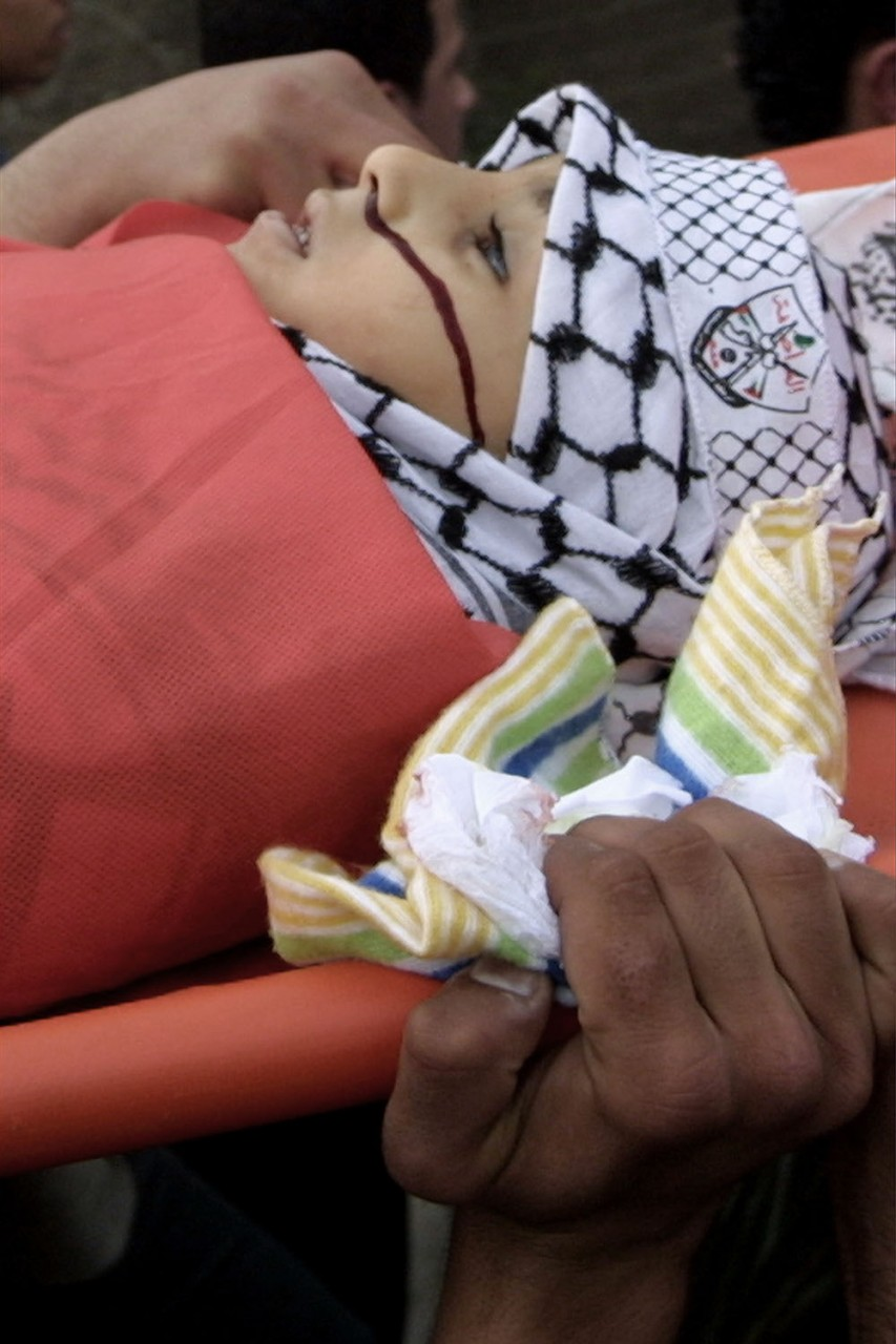 funeral balata refugee camp nablus 2004