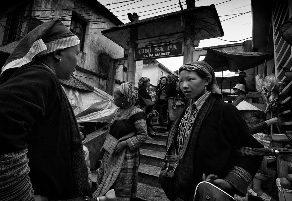 Sapa town market.